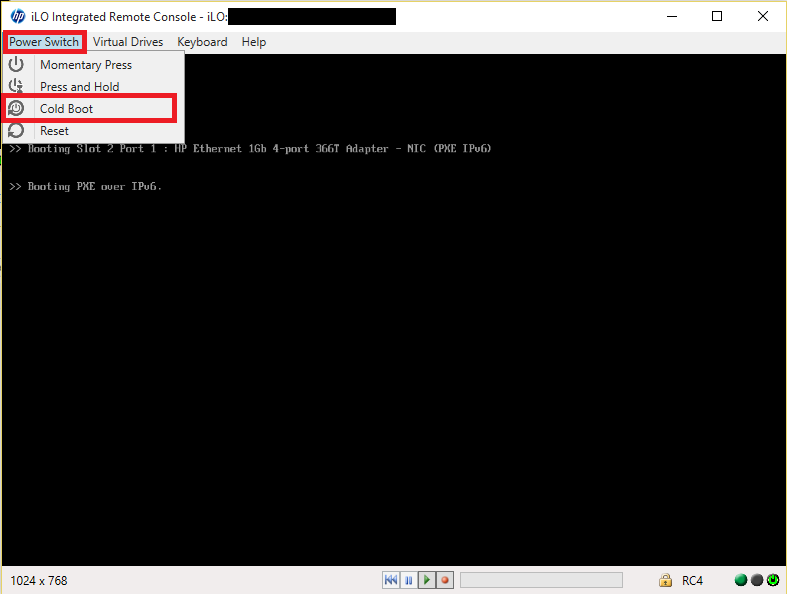 Remotely installing ESXi with HP iLO 4