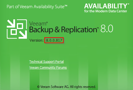 Veeam Backup and Replication 8.0.0.817